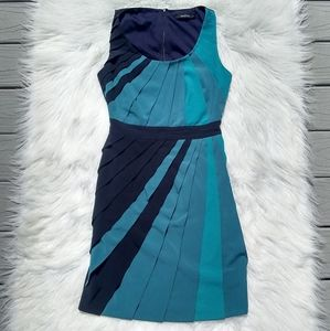 Ark & Co Teal and Black Striped Dress